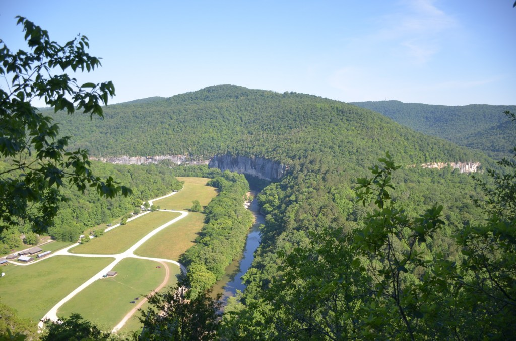 The view of Steel Creek is shown