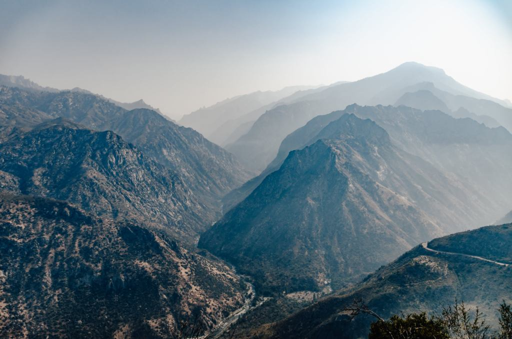 Mountains in Kings Canyon National Park are shown