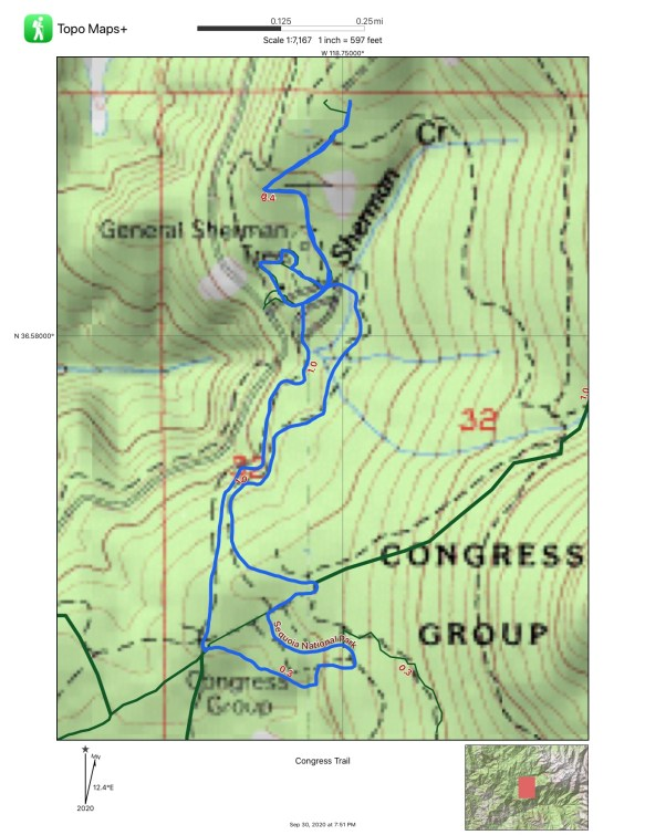 A map of the Congress Trail