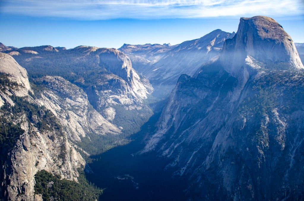 Yosemite Valley is shown from Glacier Point