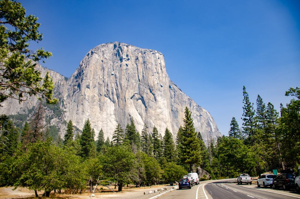 El Capitan is shown - One Day in Yosemite National Park