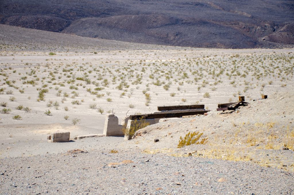 Ruins in Death Valley is shown