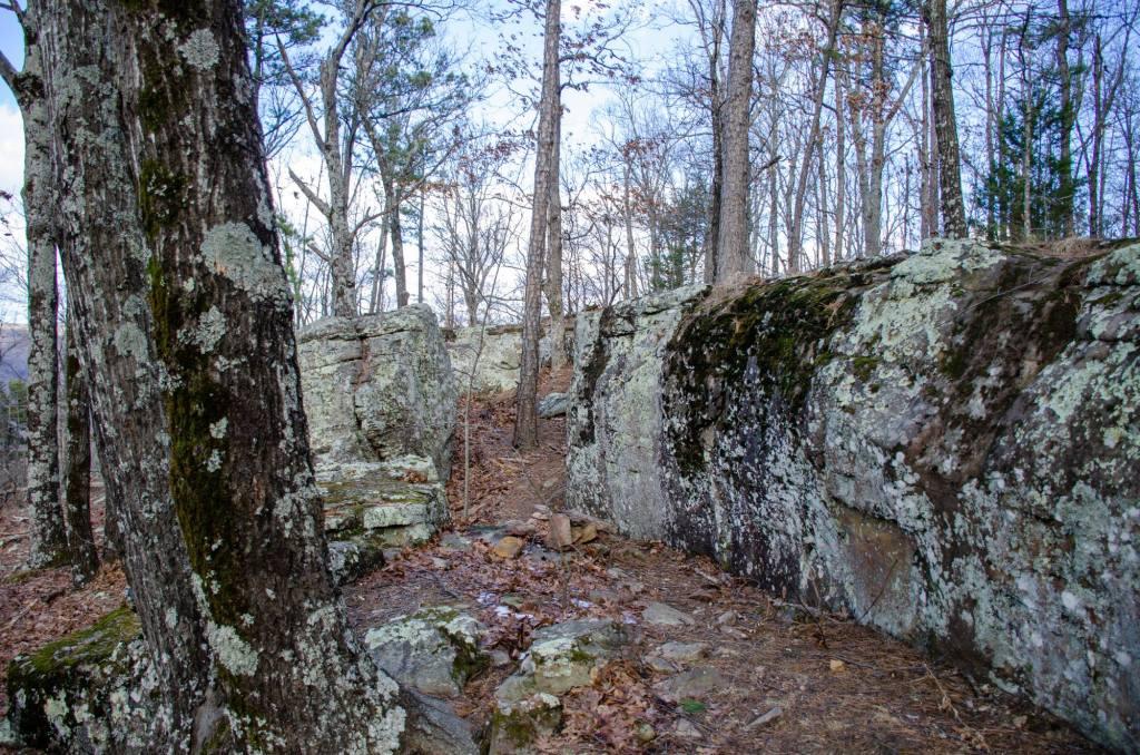 Rocks are shown