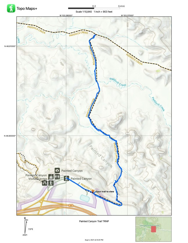 A map of the trail is shown