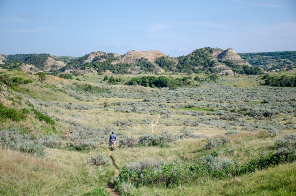 Hiking Painted Canyon at Theodore Roosevelt National Park