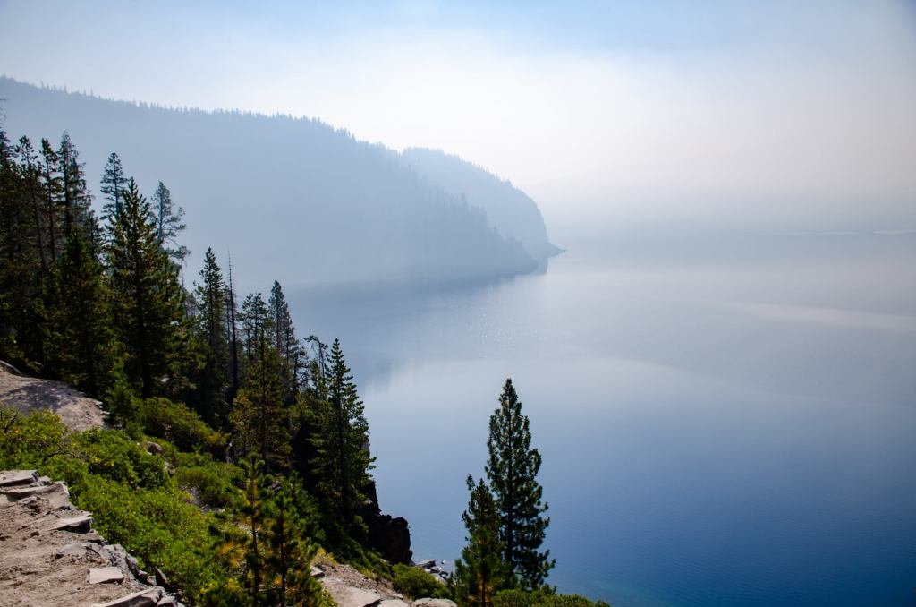 The view of Crater Lake is shown