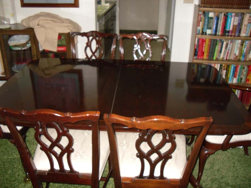 ebay used chairs leather dining singapore kindel furniture company table with six |