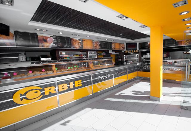 Chips And Fish Shop Interior