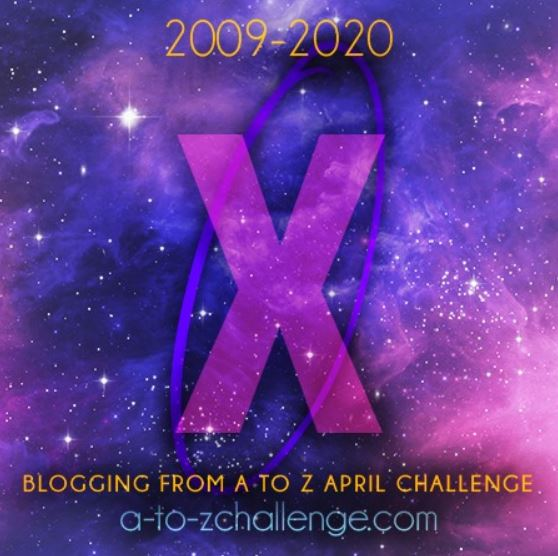 Pictures shows an X which is a part of the #AtoZchallenge and represents x for XML and XHTML