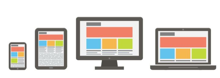 Image represents how a mobile friendly website looks on different devices and screens.
