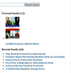 now reading library page