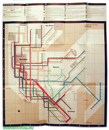 new york subway map by massimo vignelli