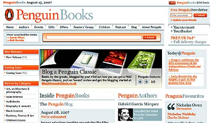 penguin uk website redesign
