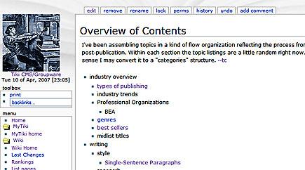 publishing wiki