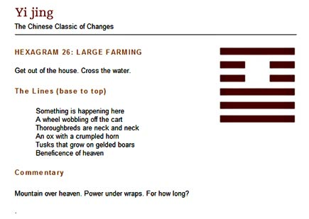 hexagram 26: large farming