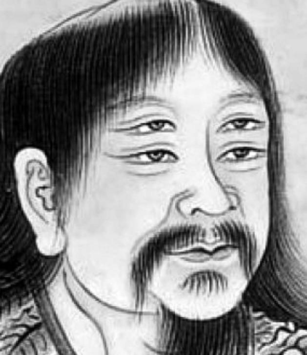 Seventeenth-century portrait of Cangjie (detail) by an unknown artist.