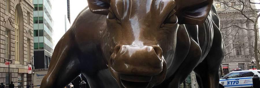 charging bull - detail