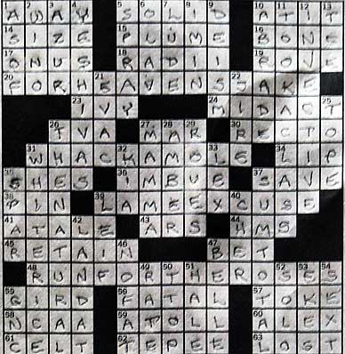 completed crossword