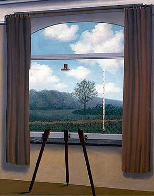 La condition humaine, 1933, by René Magritte. Oil on canvas, National Gallery of Art, Gift of the Collectors Committee1987.55.1.