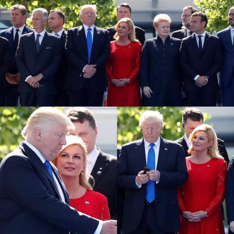 Trump and President of Croatia Kolinda Grabar-Kitarović