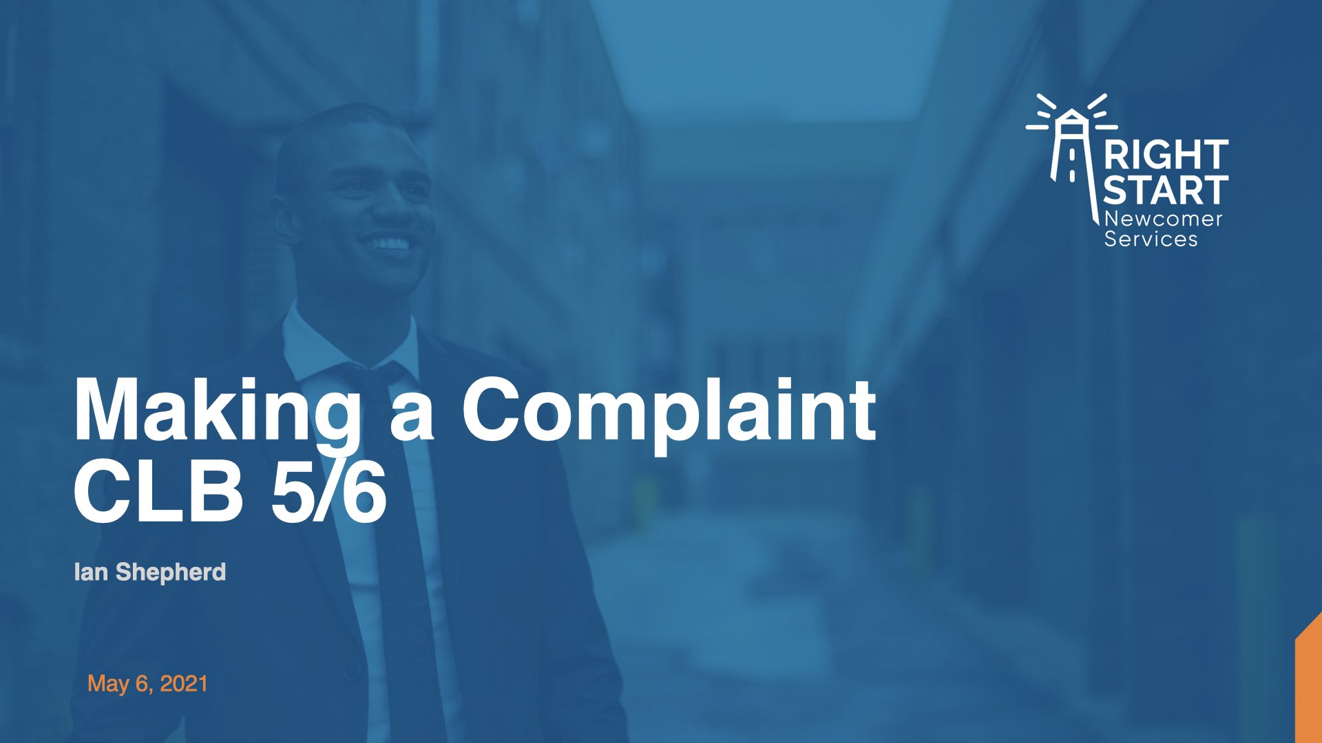 Learn Canadian English - Making a Complaint slides