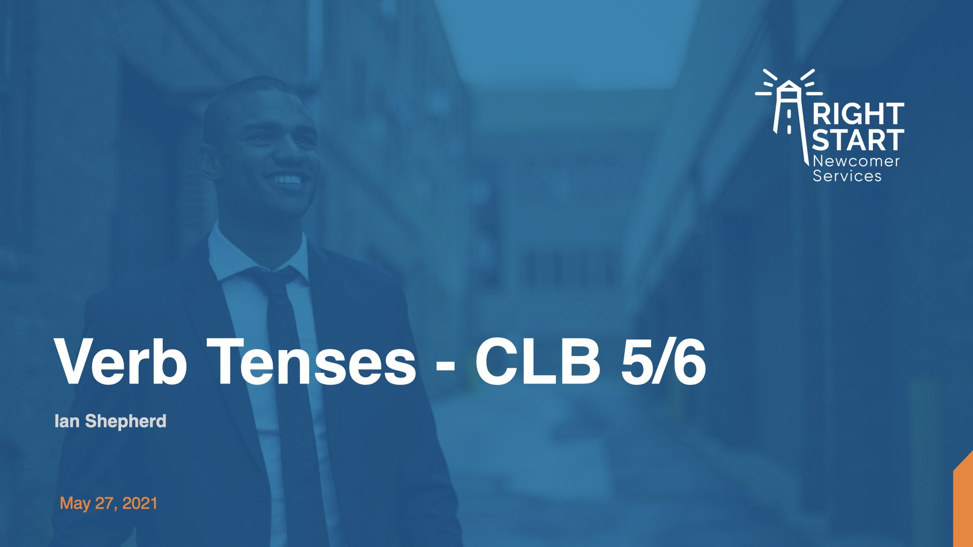 Learn Canadian English - Verb Tenses slides