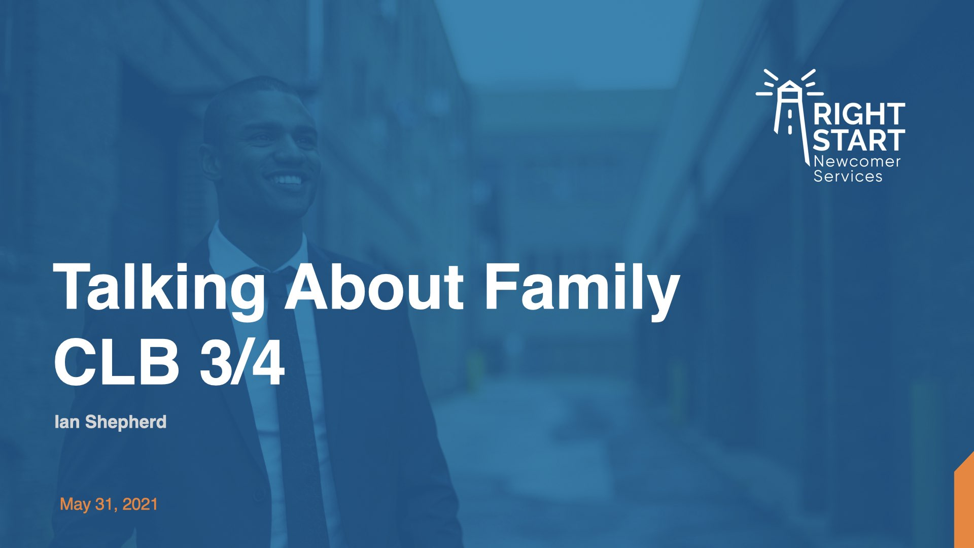 Learn Canadian English - Talking about Family slides