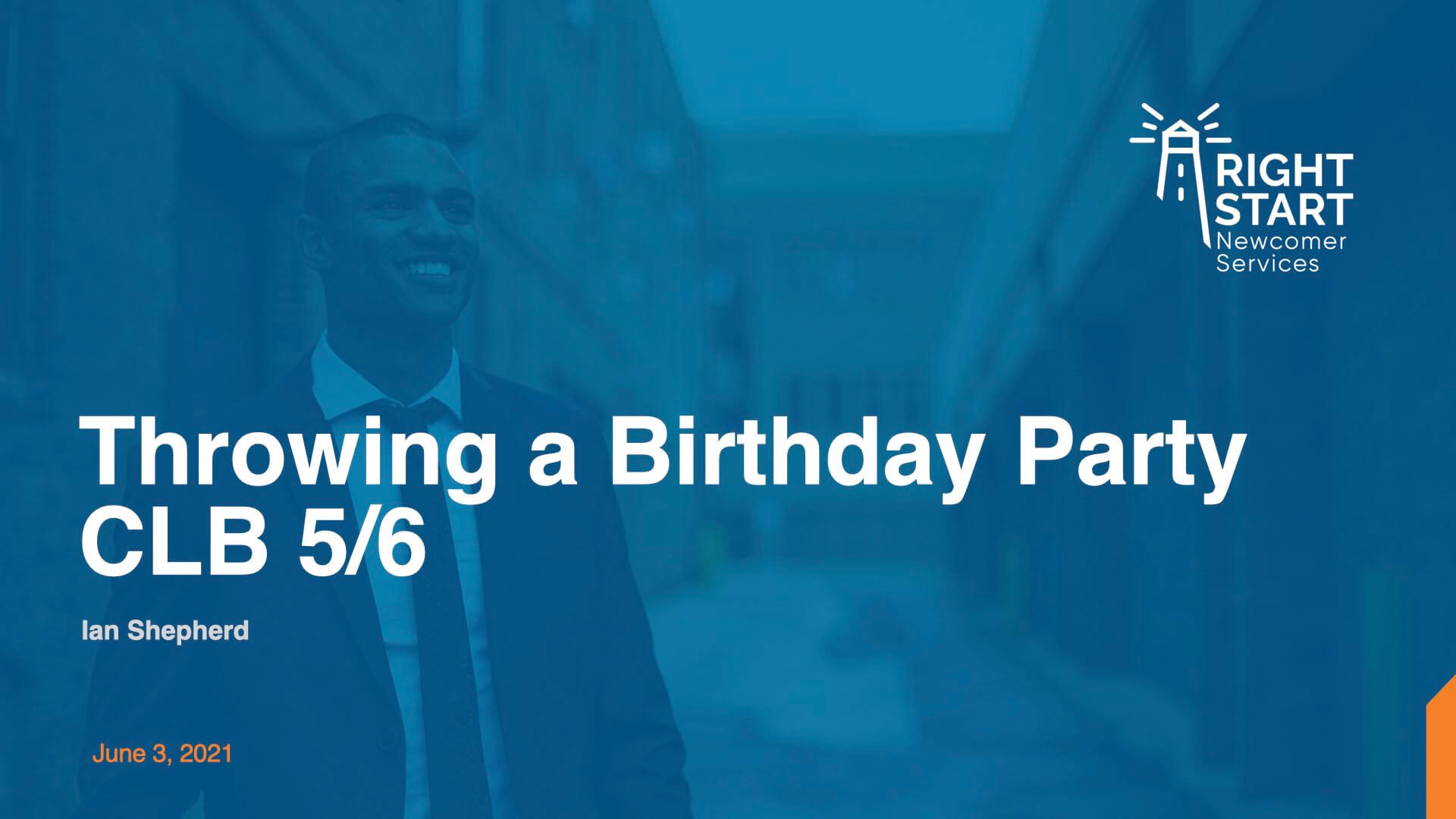 Learn Canadian English - Throwing a Birthday Party slides