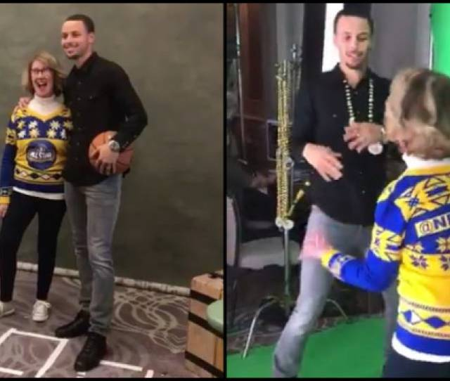 Warriors Dance Mom Teaches Steph Curry Her Moves