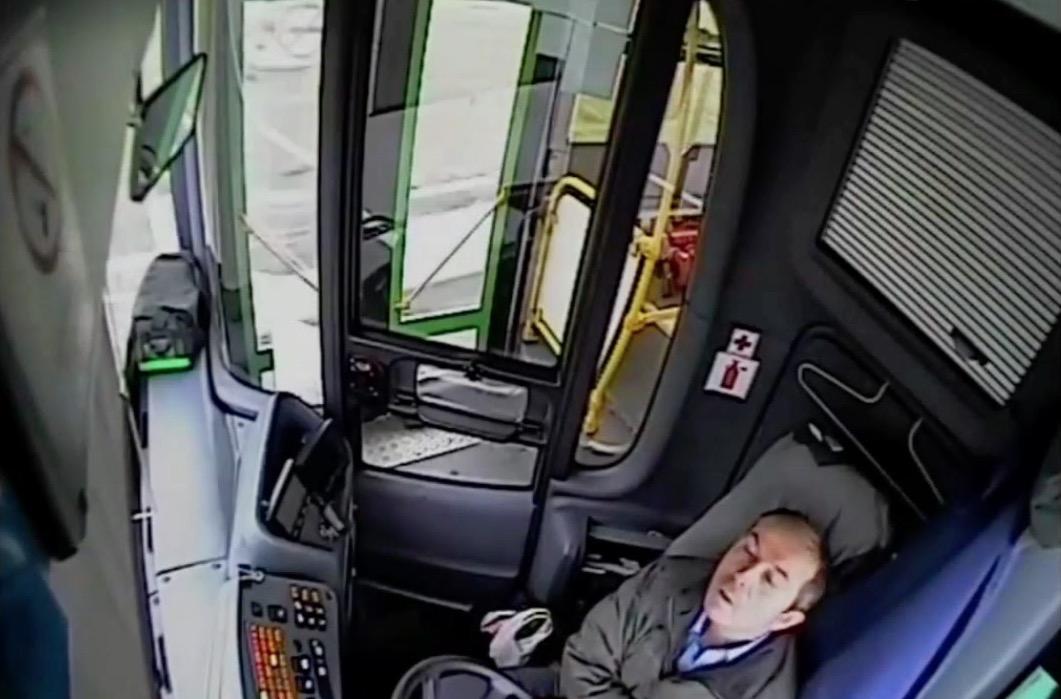 Passengers Injured When Bus Driver Falls Asleep Slams