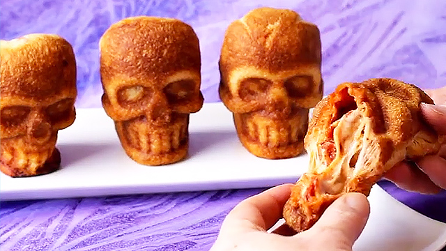 Stuffed Pizza Skulls Are Perfect For A Spooky Halloween  RTM  RightThisMinute