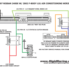 Stereo Mini Plug Wiring Diagram Cat5e Rj45 Air Conditioning In A 240sx With An Ls1 Swap. The Complete Post. – Rigid Racing
