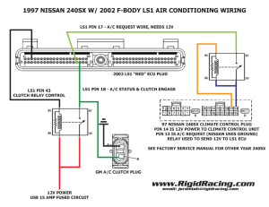 97 240SX with fbody LS1 Air Conditioning wiring – Rigid Racing