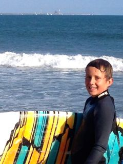 Me at Ventura's Surfers' Point with my new board, formerly Robert Weiner's.