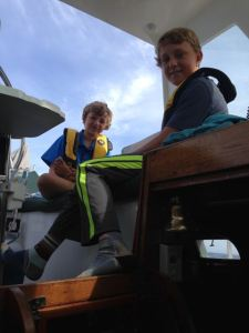 Trent and Bryce on watch to Cedros Island