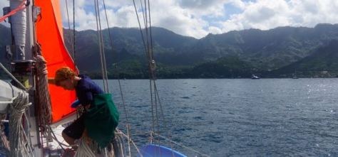 After 24 days at sea, Bryce arrives in the Marquesas.