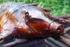 """Puaka"" is the Marquesan word for pig. Delicious is the English word for how it tastes."