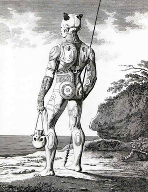 Marquesan warrior
