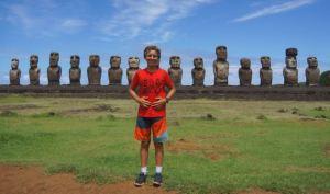Trent Rigney at Ahu Tongariki, Rapa Nui Island.