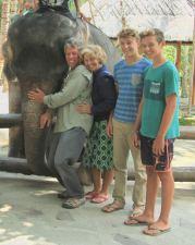Rigneyskandu feeding elephants.