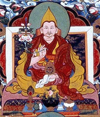 Ngawang Lobsang Gyatso (1617-1682), cinquième Dalaï-lama © Rigpa wiki
