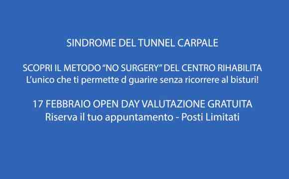 """METODO """"NO SURGERY"""" SINDROME TUNNEL CARPALE"""