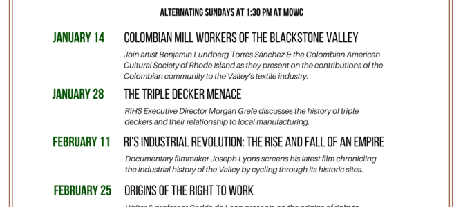 Museum of Work & Culture to Launch Free Lecture Series January 14