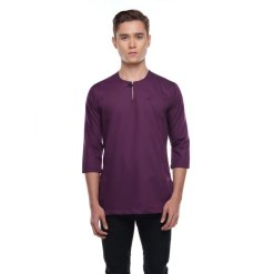 Kurta Falique REAL BURGUNDY 1 Rijal & Co