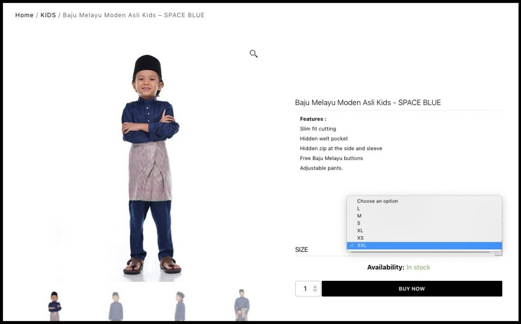 Rijal&co How to order - choose product 2