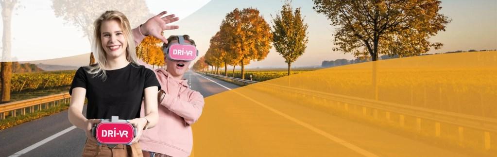 Virtual reality, dri-vr, rijlessen