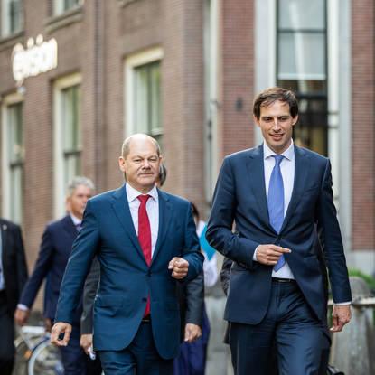 Bezoek minister Scholz