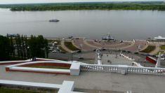 Herrlicher Blick vom Kreml mit der Tschalow-Treppe...