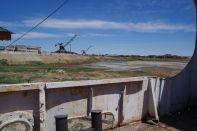 Der ehemalige Hafen von Aral