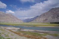Der Zusammenfluss von Pamir und Wakhan zum Panj